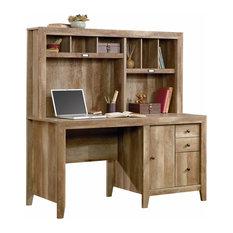 Dakota Pass Computer Desk With Hutch, Craftsman Oak