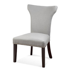 Nelson Parson Chairs Set Of 2 Gray Linen