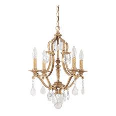 Antique Gold Chandelier: Capital Lighting 4184AG-CR Blakely 4-Light Chandelier,Lighting