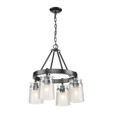 Travers 4-Light Chandelier, Black