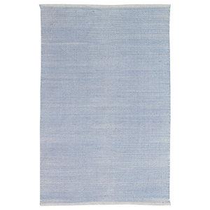 Handwoven Powder Blue Field Cotton Rug, 120x180 Cm
