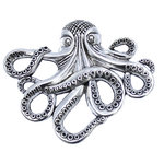 DaRosa Creations - Octopus Cabinet Knob - Nautical Decor Octopus Drawer Knob, Silver - The Octopus is all the rage for craft enthusiasts! While he may not have traversed the globe with Jules Verne, he will look ship-shape on your dresser or cabinet as a drawer pull! These fun knobs highlight one of the world??s most brilliant creatures; in fact, if octopuses could teach their young, they would rule the world.