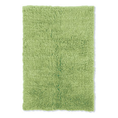 Linon Flokati Rectangular Rug, Lime Green, 8'x10'