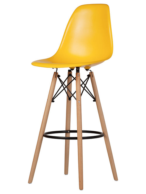 Lovely Yellow Upholstered Bar Stools
