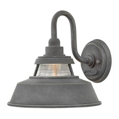 Hinkley Troyer Outdoor Medium Wall Mount Sconce, Aged Zinc