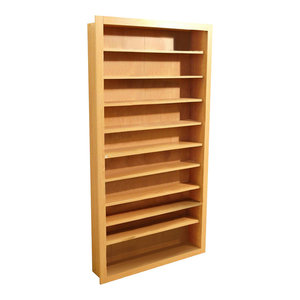Contemporary Stylish Storage Unit in Beech Finish Particle Board with 10 Shelves