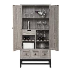 Huntington Beverage Cabinet, Weathered Oak
