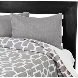 Fabulous Contemporary Duvet Covers And Duvet Sets Ellington Smoke Corded Standard Cut Twin Duvet and Smoke