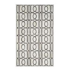 Safavieh Studio Leather STL662A Ivory/Gray Rug, 8'x10'Rectangle