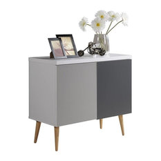 Entry Way Accent Table White-Gray