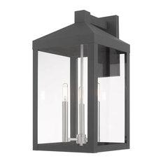 Livex Lighting Scandinavian Gray 3-Light Outdoor Wall Lantern