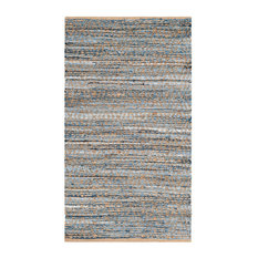 Safavieh Cape Cod Collection CAP351 Rug, Natural/Blue, 2'x3'