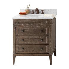 ronbow corporation ronbow laurel solid wood 30 vanity set with ceramic sink bathroom - Wood Bathroom Vanities