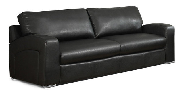 Bonded Leather Match Sofa, Black