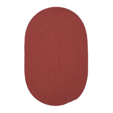 """Colonial Mills, Inc - Colonial Mills Boca Raton BR78 Terracotta, 8' 0"""" x 11' 0"""" - Oval - Outdoor Rugs"""