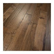 Hickory Hand Scraped Prefinished Solid Wood Flooring, Old West, Sample