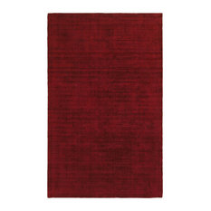 Maderia Solid Plush Red Area Rug, 8'x10'