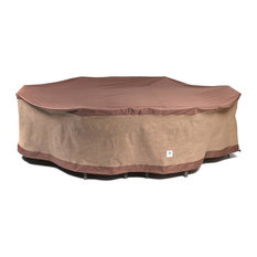 """Duck Covers Ultimate 96""""L Rectangular/Oval Patio Table With Chairs Cover"""