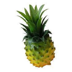 Set of 3 Beautiful Artificial Fruit Kitchen Decoration  Pineapple Yellow 7.08''