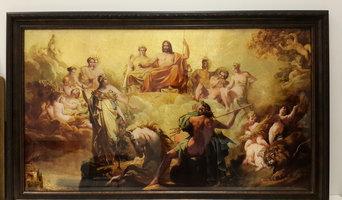 """Картина эгломизе """"Спор между Минервой и Нептуном о наименовании Афин"""""""