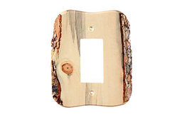 Rustic - 1 Decora Finished - Blued Pine SwitchPlate, BSH-682760