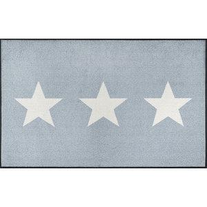 Stars Door Mat, Grey, 120x75 cm