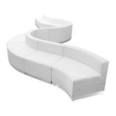 Hercules Alon Series Melrose White Leather Reception Configuration 10-Piece Set