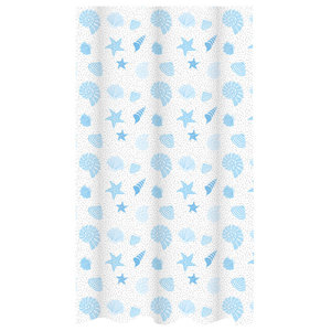 Aruba Printed Beach Pattern Shower Curtain