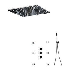 Asti Rainfall Shower Head Mist Spa Thermostatic Bath Multi Function Shower Set