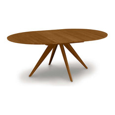 """Catalina 60/84"""" Extension Round Table by Copeland Furniture, Saddle Cherry"""