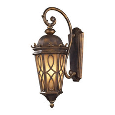 Three Light French Country Outdoor Wall Lantern - Barrel Shape Porch Light