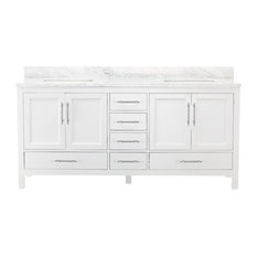 "MOD - Kendall White Bathroom Vanity, 72"" - Bathroom Vanities and Sink Consoles"