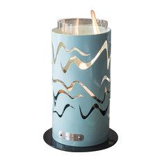 Samba Tabletop Fireplace, Sky Blue