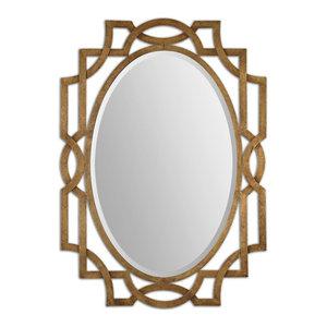 03b2503baf0 Uttermost Margutta Gold Oval Mirror - Transitional - Wall Mirrors ...