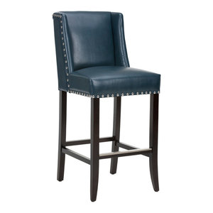 Marlin Barstool, Nobility Blue Leather