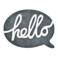 """Lilipinso """"Hello"""" Bubble Cotton Rug, Anthracite"""