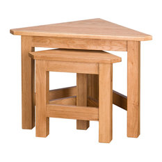 Oak Corner Nesting Tables, Set of 2
