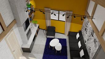 Studio avec création mezzanine