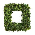 "Preserved Boxwood Square Wreath 16"""