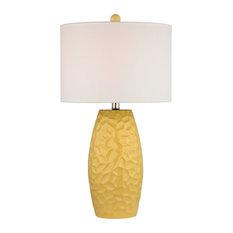 "27"" Selsey Ceramic Table Lamp, Sunshine Yellow"