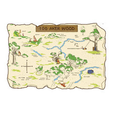 Disney Winnie Pooh Friends 100 Aker Wood Map Wall Accent