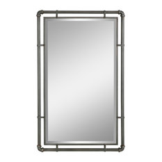 Morse Industrial Metal Wall Mirror