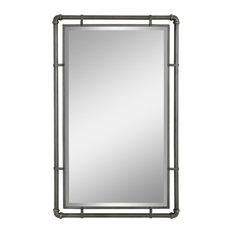 Aspire Home Accents, Inc. - Morse Industrial Metal Wall Mirror - Bathroom Mirrors