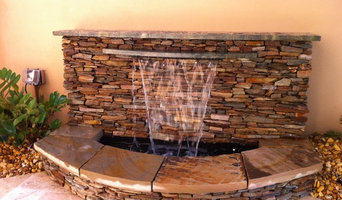 Stacked stone and Granite fountain
