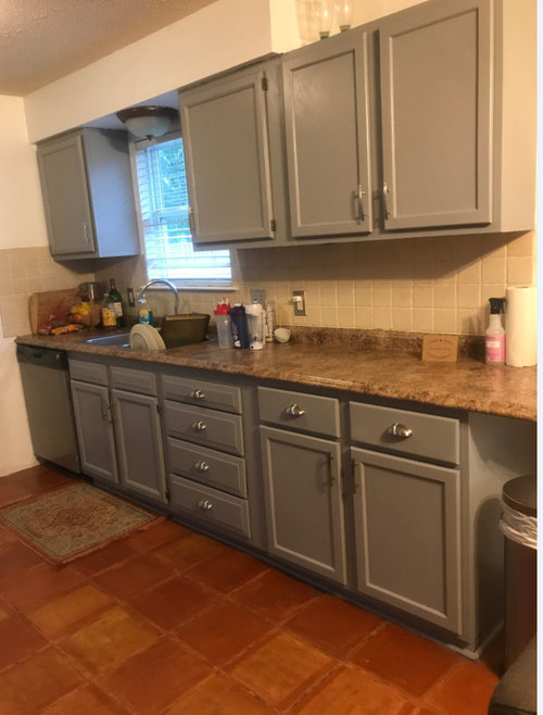 Wanting Modern Kitchen Design But Have Saltillo Tiles