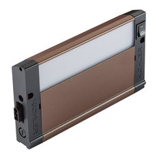 """4U Series 8"""" 2700K LED Under Cabinet, Bronze Textured/Frosted Glass"""