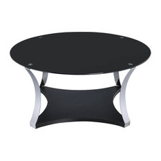 Acme Furniture   Acme Geiger Coffee Table, Chrome And Black Glass   Coffee  Tables
