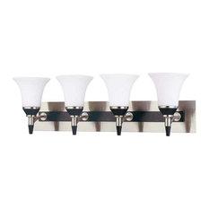 nuvo lighting keen 4 light vanity fixture with satin white glass bathroom vanity black vanity lighting
