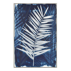 Key Biscayne Wall Accent in Blue And White With Silver