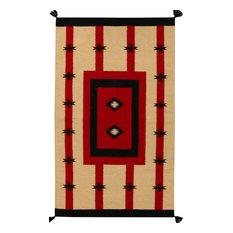 "ALRUG Handmade Beige/Tan Oriental  Tribal Kilim,  2' 11"" x 4' 11"""